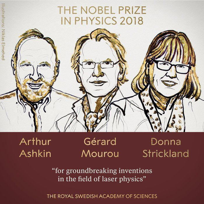 The Canadian Donna Strickland among the three awarded for the 2018 Nobel Prize in Physics