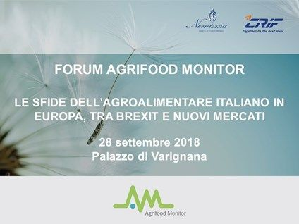 AGRIFOOD MONITOR 2018: THE CHALLENGES FOR THE ITALIAN AGRI-FOOD IN EUROPE (BUT ALSO IN CANADA)