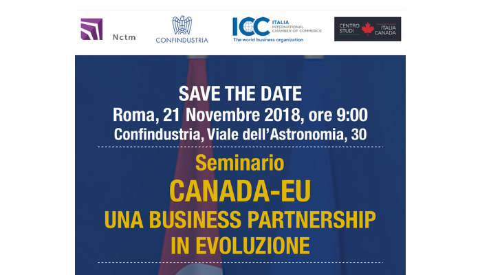 Seminario CANADA-EU: Una Business Partnership in Evoluzione